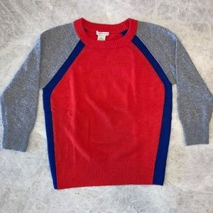 Club Monaco 3/4 Length Sleeve Color Block Sweater